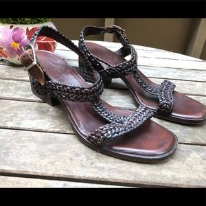 Cole Haan rope t strap heel sandals 6.5